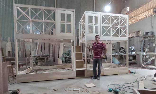 Tân Minh Chính ra mắt mẫu giường tầng gỗ tại Việt Trì