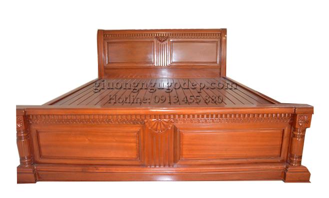 Mẫu giường ngủ đẹp gỗ tự nhiên chất lượng, giá tại xưởng sản xuất