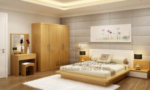 Giường ngủ gỗ công nghiệp - MSP02