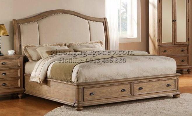 Giường ngủ cổ điển phong cách Châu Âu - GN001