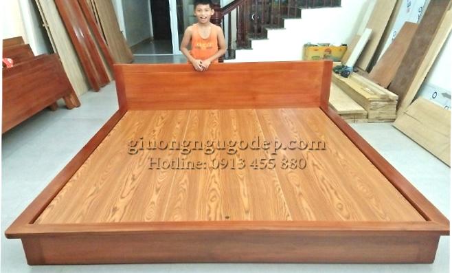 Mẫu giường ngủ gỗ 2019 mới nhất-MSP808-giá xưởng