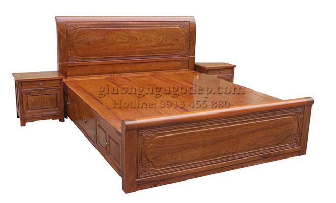 Giường gỗ gụ - MSP006
