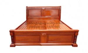 Giường gỗ hương chữ X - MSP003