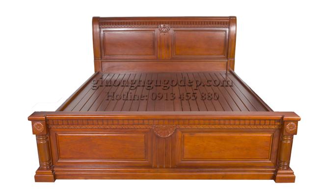 Giường gỗ gụ X- MSP12